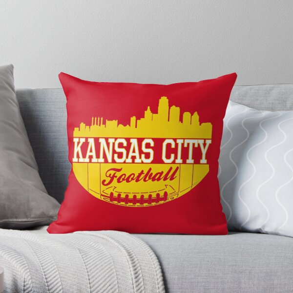 Kansas City Football KC Fan Red & Yellow Kc Football Kingdom Throw Pillow