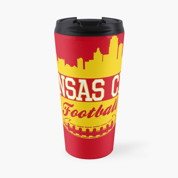 Kansas City Football KC Fan Red & Yellow Kc Football Kingdom Travel Mug