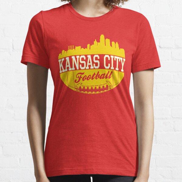 Kansas City Football KC Fan Red & Yellow Kc Football Kingdom Essential T-Shirt
