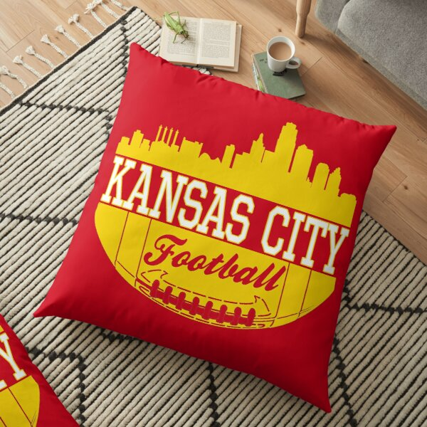 Kansas City Football KC Fan Red & Yellow Kc Football Kingdom Floor Pillow