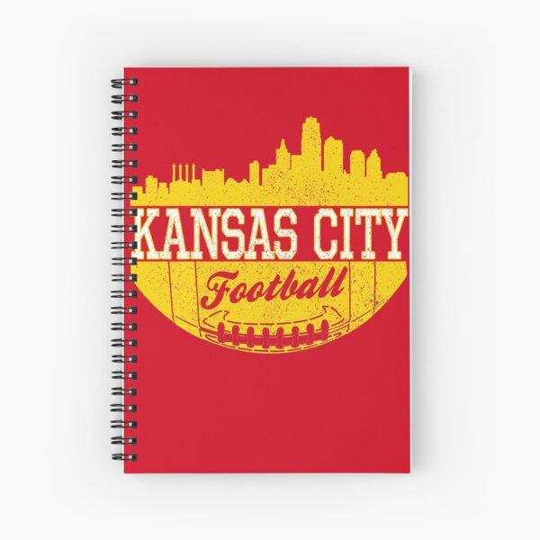 Classic Vintage Kansas City Football KC Fan Red & Yellow Kc Football Spiral Notebook