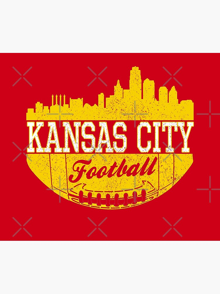Classic Vintage Kansas City Football KC Fan Red & Yellow Kc Football by Bullish-Bear