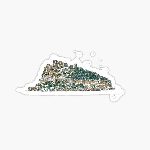 Castello Arongese in Ischia Italy e Drawing Sticker