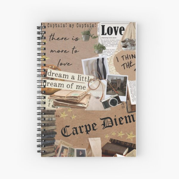 Dead Poets Society Inspired Collage Spiral Notebook