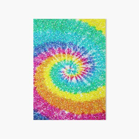 Rainbow Tie Dye 3 Art Board Print