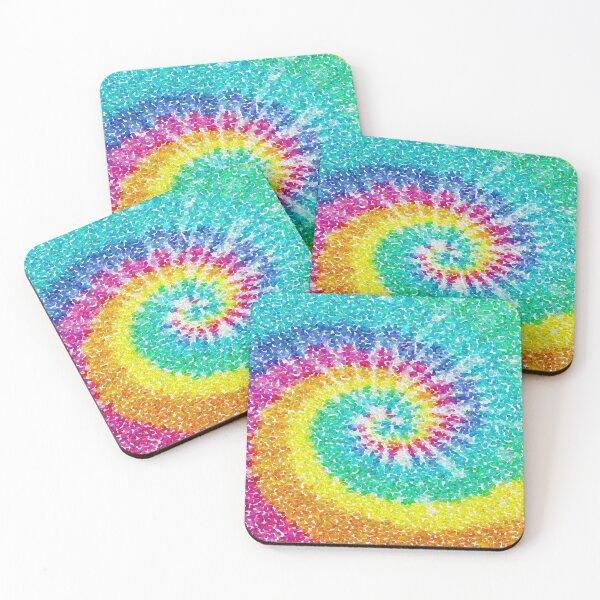 Rainbow Tie Dye 3 Coasters (Set of 4)
