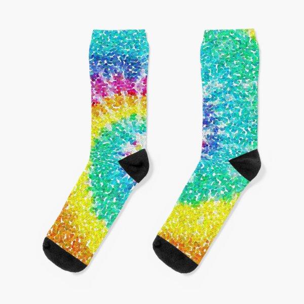 Rainbow Tie Dye 3 Socks