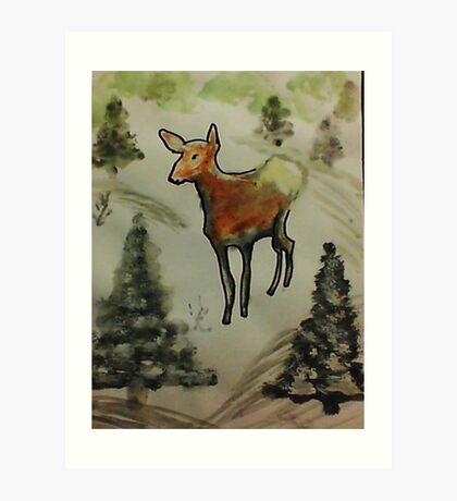 First season  on my own!  watercolor Art Print