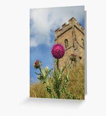 Thistle of the Tor. Greeting Card