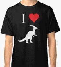 I Love Dinosaurs - Parasaurolophus (white design) Classic T-Shirt