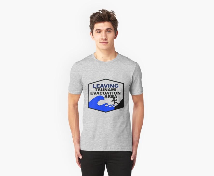 Tsunami Evacuation Area shirt from Hawaii by Jacob King