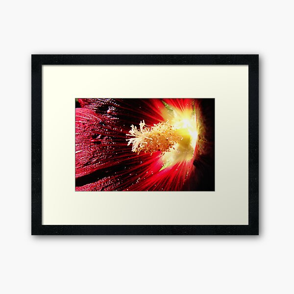 Surface Eruption Framed Art Print