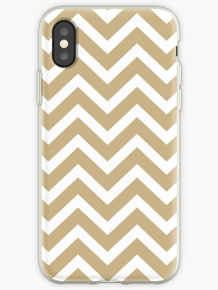 Christmas Gold & White Chevron by podartist