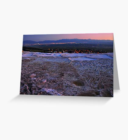 Pamukkale by Night Greeting Card