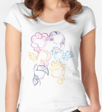 Main 6 Group Outline Women's Fitted Scoop T-Shirt