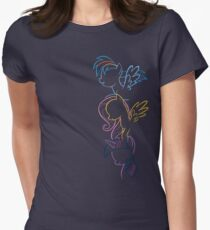 RDB, Fluttershy & Twilight (Left) Womens Fitted T-Shirt