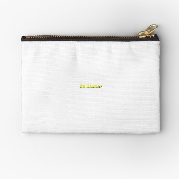 Ok Boomer Yellow and Black Zipper Pouch