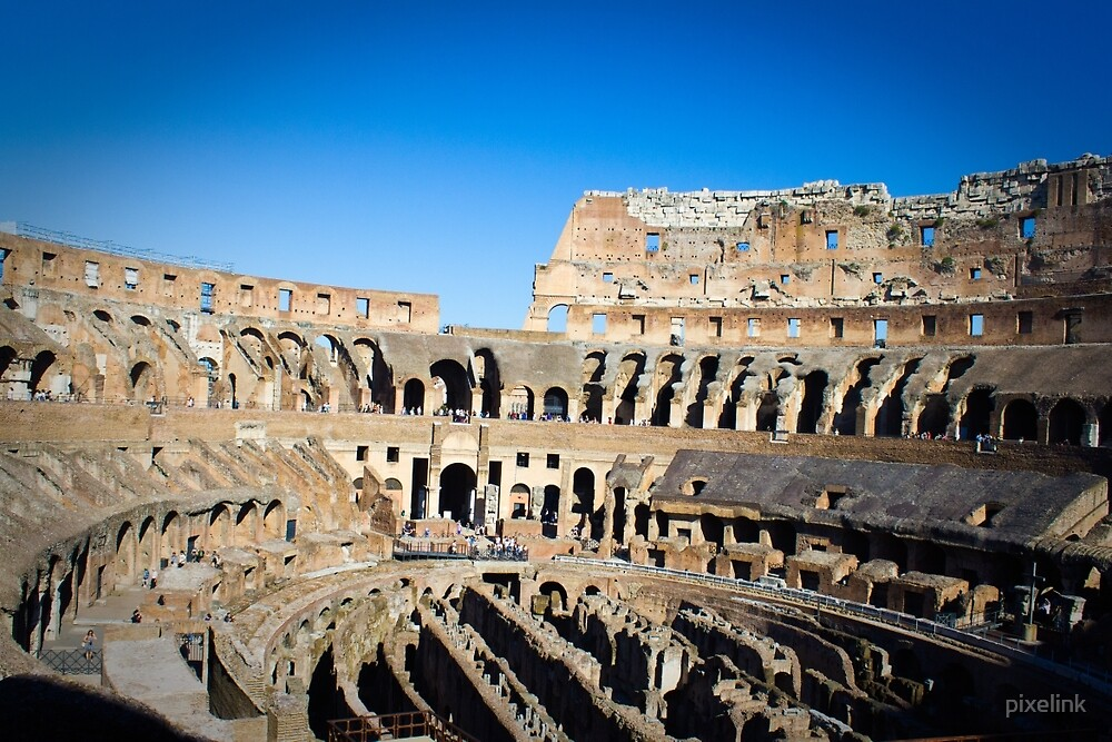 Inside the Colosseum, Rome by pixelink