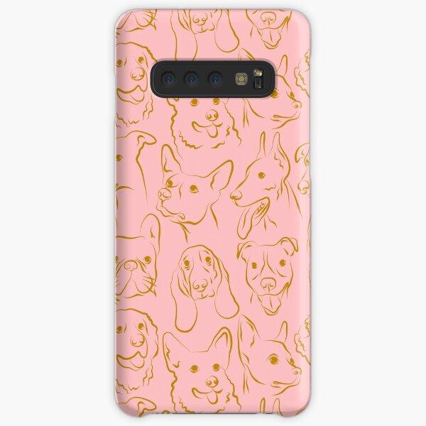 Pink Dog Pattern Samsung Galaxy Snap Case