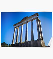 Temple of Saturn, Rome Poster