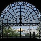 Jerusalem's Old City as seen from the window of Dominus Flevit Church by Yair Karelic