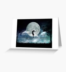 Giddy by Moonlight Greeting Card