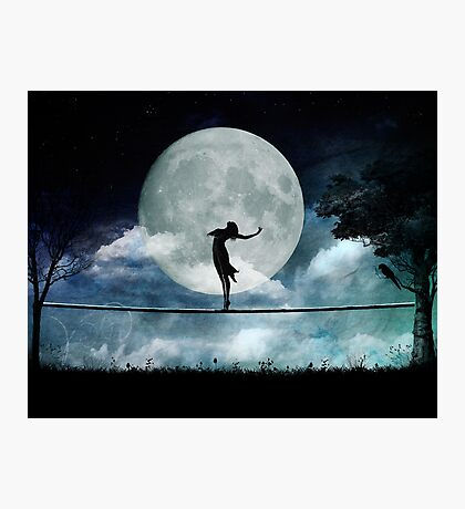 Giddy by Moonlight Photographic Print