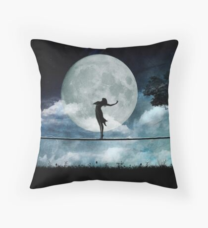 Giddy by Moonlight Throw Pillow