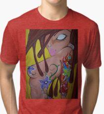 Ink monkey girl - sexy, tattooed, hardcore Tri-blend T-Shirt
