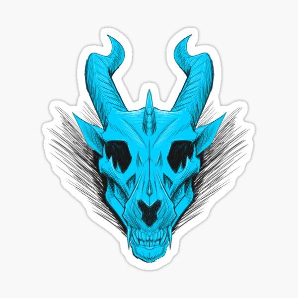 Dragon Skull-Blue Sticker
