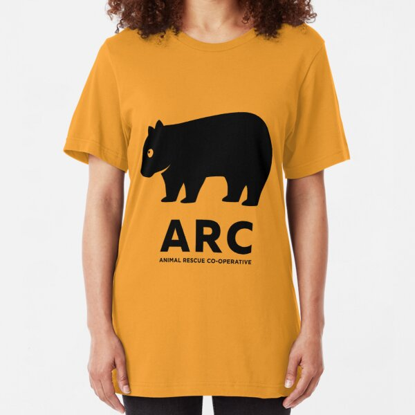 ARC Wombat gear - Animal Rescue Co-operative Slim Fit T-Shirt