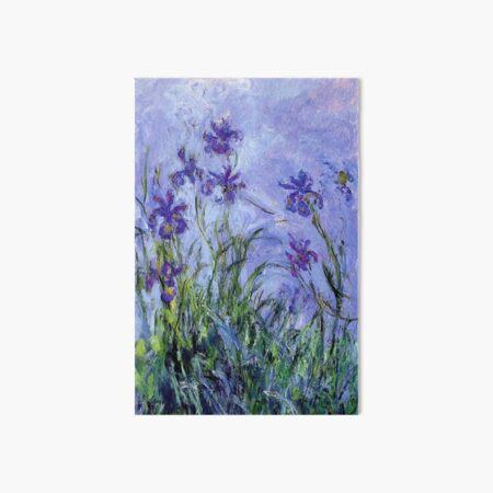 Claude Monet : Lilac Irises 1914 Art Board Print