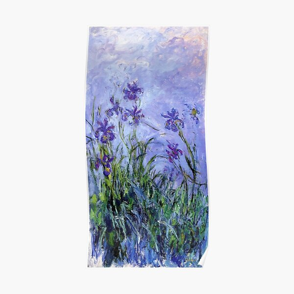 Claude Monet : Lilac Irises 1914 Poster
