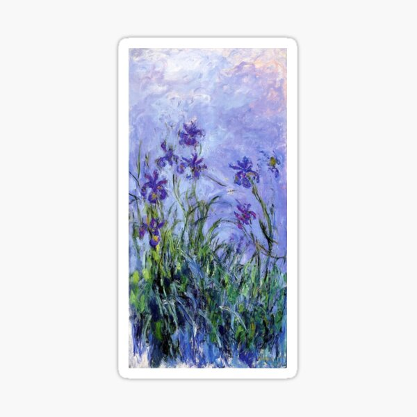 Claude Monet : Lilac Irises 1914 Sticker