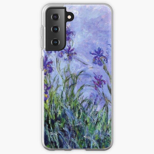 Claude Monet : Lilac Irises 1914 Samsung Galaxy Soft Case