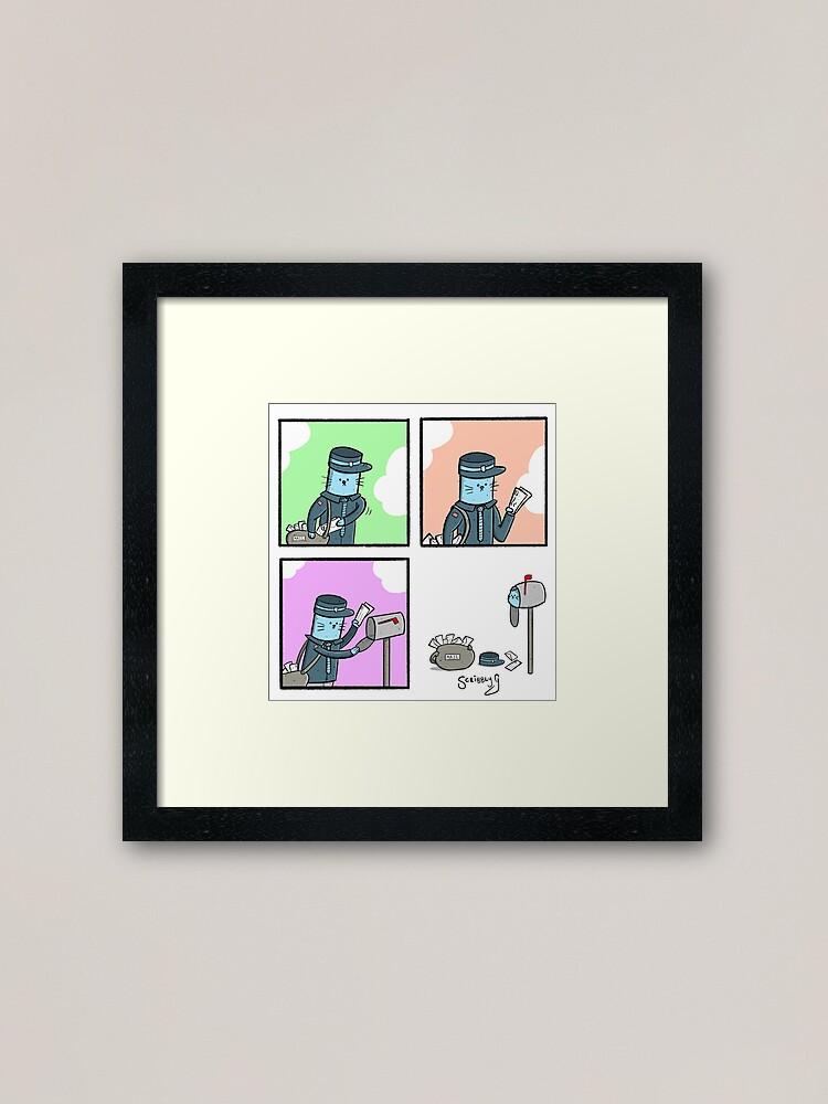 Alternate view of Postman Cat  Framed Art Print