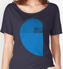 Golden Ratio Spiral - Blue Sections Women's Relaxed Fit T-Shirt