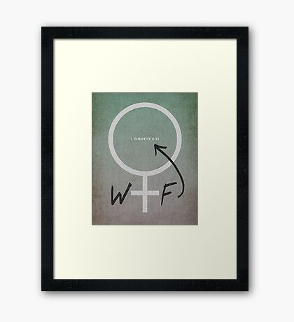Word: 1 Timothy Framed Print