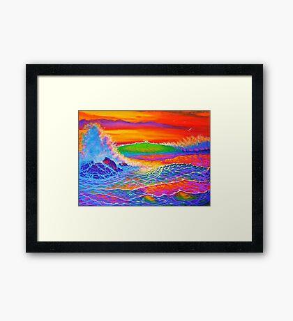 Creamsicle Sunset Framed Print
