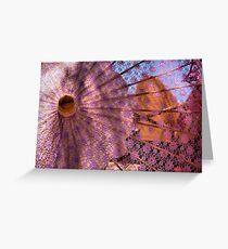 Purple Parasol Greeting Card
