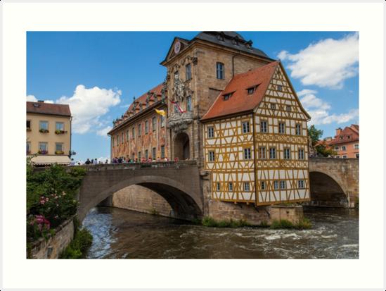 Bamberg Altes Rathaus by Shirley Radabaugh