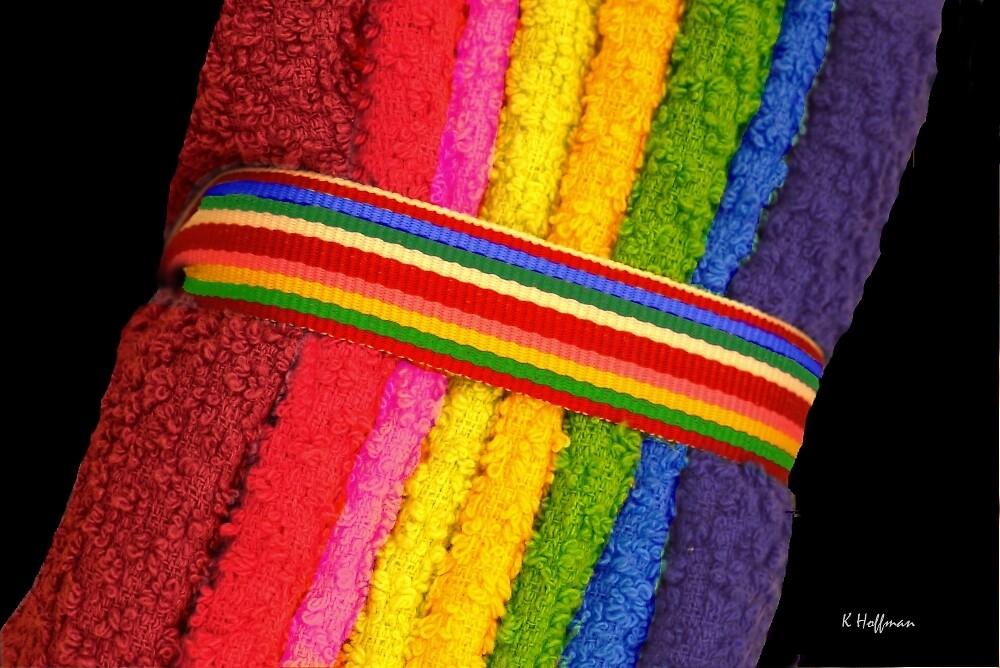 Rainbow Washcloths by Kenneth Hoffman
