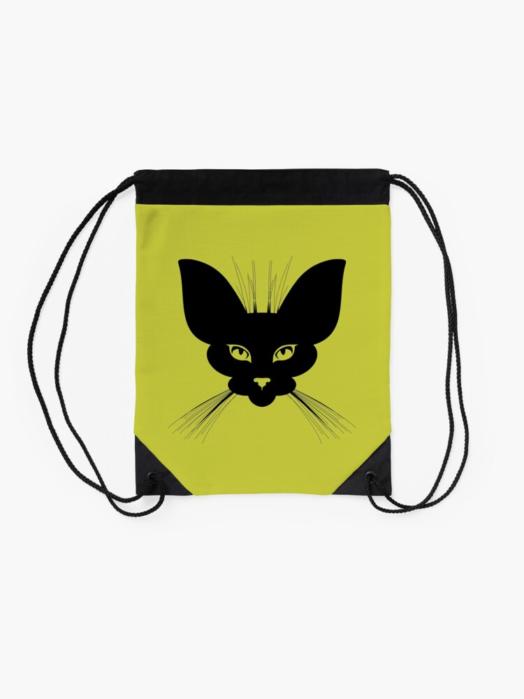 Alternate view of I am Night Drawstring Bag