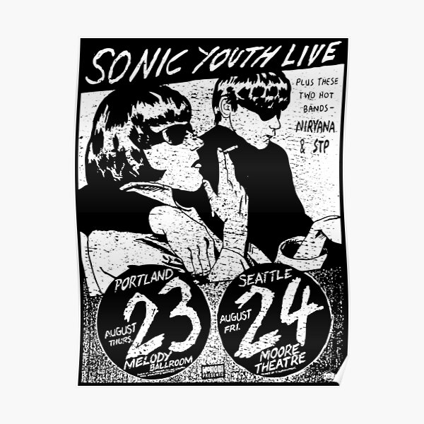 Sonic Youth Live (distressed design) Poster