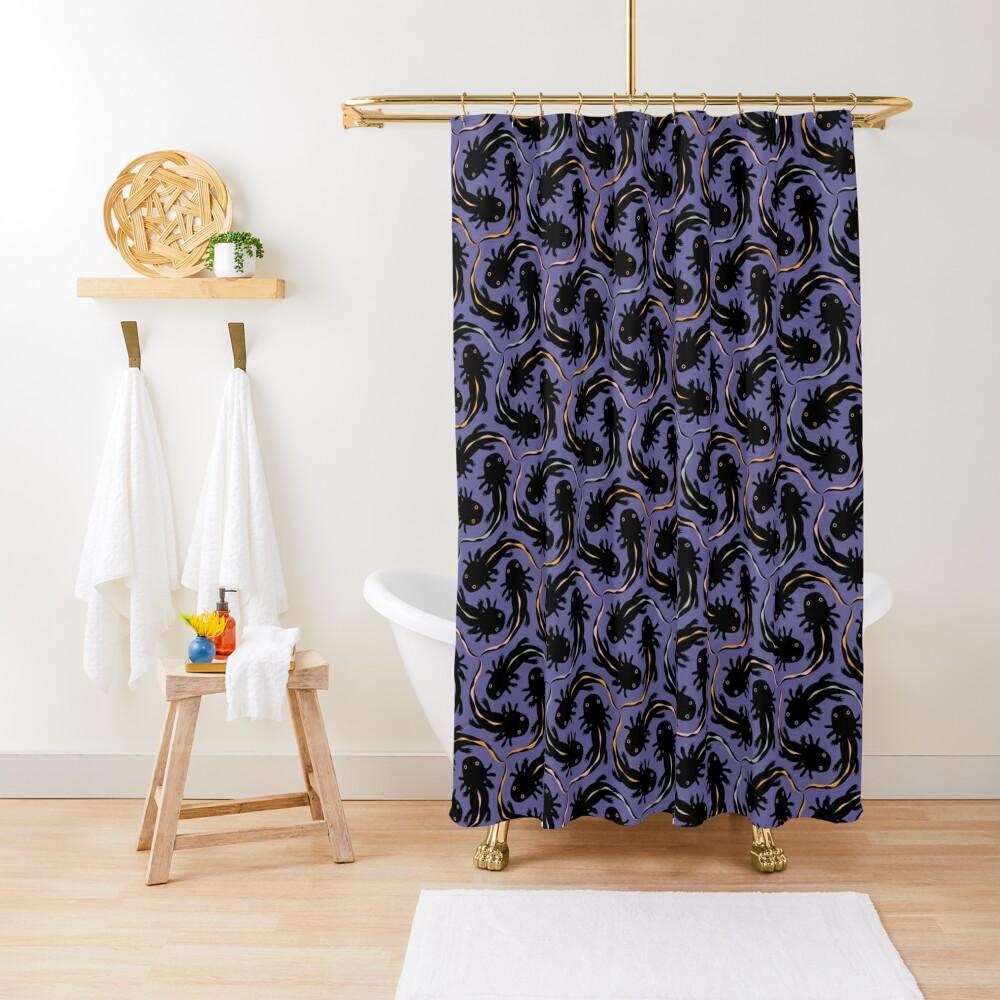 WE LOVE M.C. ESCHER style - Axolotl symmetrical pattern Shower Curtain