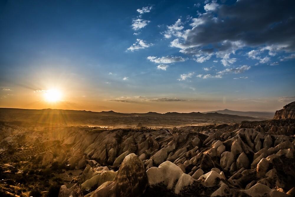 Stunning Sunset view of Cappadocia  by hayrettinsokmen
