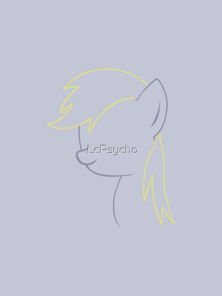 Derpy Hooves Outline. by LcPsycho