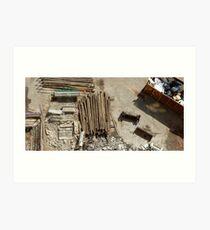 demolition site Art Print