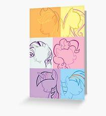 6 Main_squares 1 poster/card/print Greeting Card