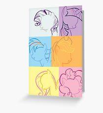 6 Main_squares 2 poster/card/print Greeting Card